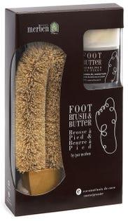 Ensemble de beurre et de brosse pour les pieds Merben