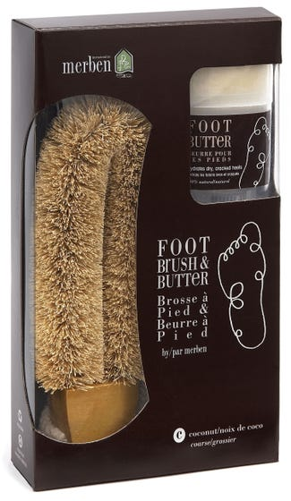 MERBEN Coconut Foot Brush w/ Foot Butter
