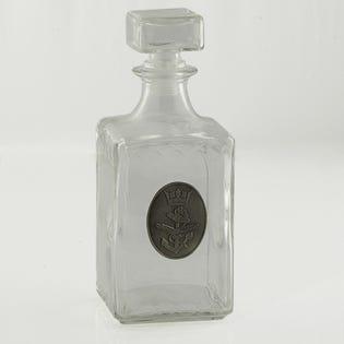 Navy  Whiskey Decanter