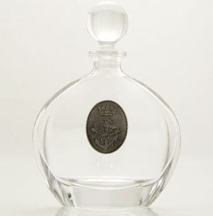 Navy Oval Whiskey Decanter