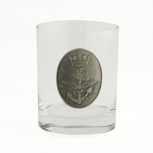 Navy Whiskey Glass