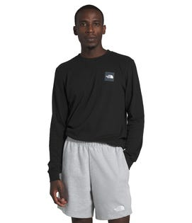 The North Face Men's Long Sleeve Box T-Shirt Black