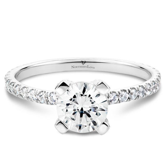 NORTHERN LOVE Platinum Diamond Engagement Ring Total Carat Weight 1.26ct (EA3)