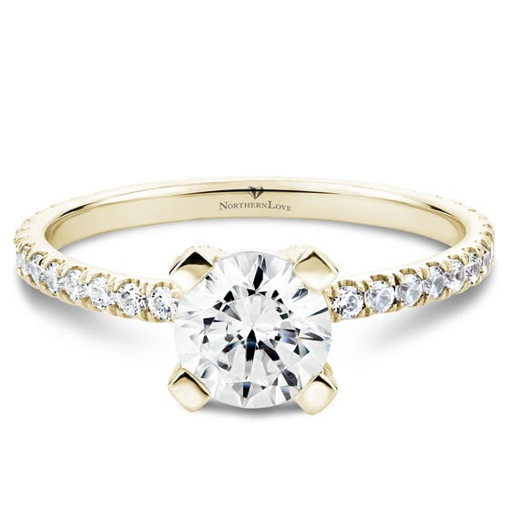 NORTHERN LOVE Yellow Gold Brilliant Cut Diamond Engagement Ring Total Carat Weight 1.26ct (EA3)