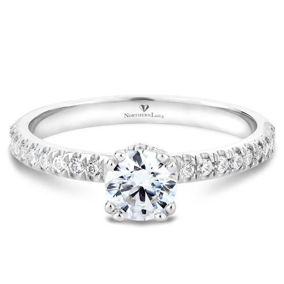 NORTHERN LOVE Platinum Brilliant Cut Diamond Engagement Ring Total Carat Weight 0.75ct (EA3)