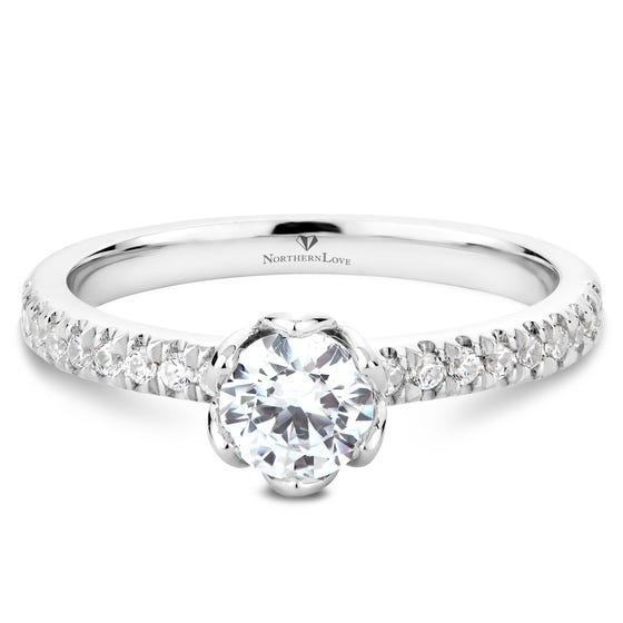 NORTHERN LOVE Platinum Diamond Engagement Ring Total Carat Weight 0.70ct (EA3)