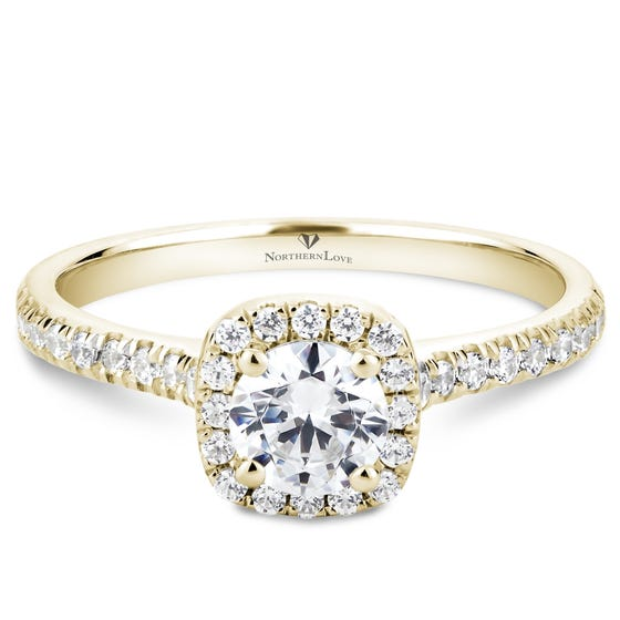 NORTHERN LOVE Yellow Gold Brilliant Cut Diamond Engagement Ring Total Carat Weight 0.80ct (EA3)