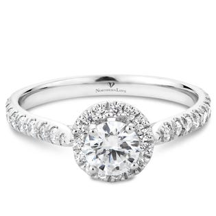 NORTHERN LOVE 0.50ct Diamond Engagement Ring Platinum (EA3)