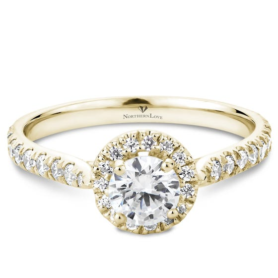 NORTHERN LOVE White Gold Brilliant Cut Diamond Engagement Ring Total Carat Weight 0.90ct (EA3)
