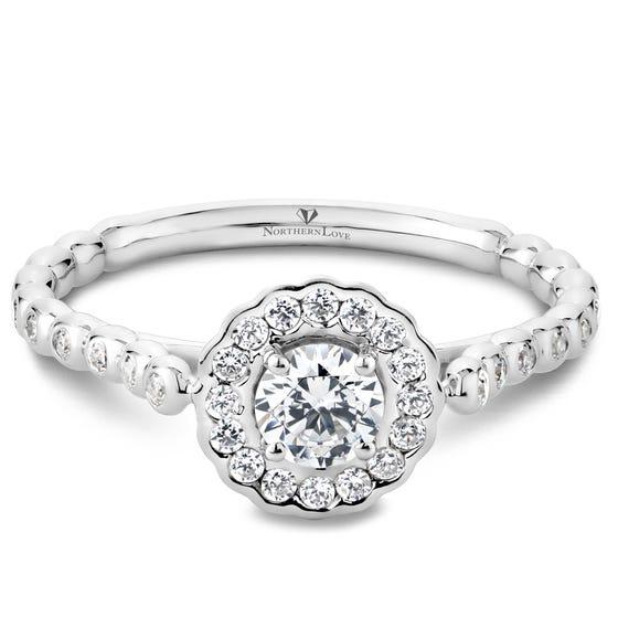 NORTHERN LOVE 0.33 ct Diamond Engagement Ring Platinum (EA3)