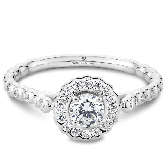 NORTHERN LOVE White Gold Diamond Engagement Ring Total Carat Weight 0.64ct (EA3)