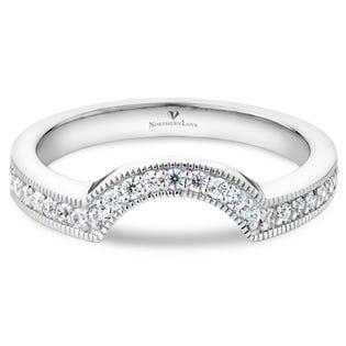 NORTHERN LOVE 14K White Gold Diamond Wedding Band Total Carat Weight 0.25 ct (EA3)