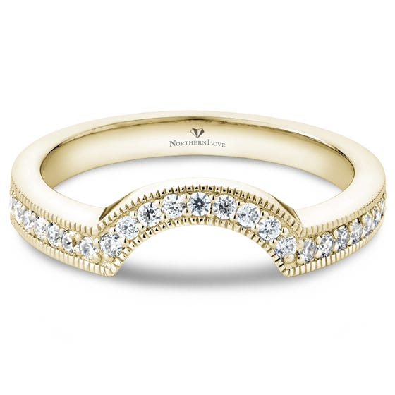 NORTHERN LOVE 14K Yellow Gold Diamond Wedding Band Total Carat Weight 0.25ct (EA3)
