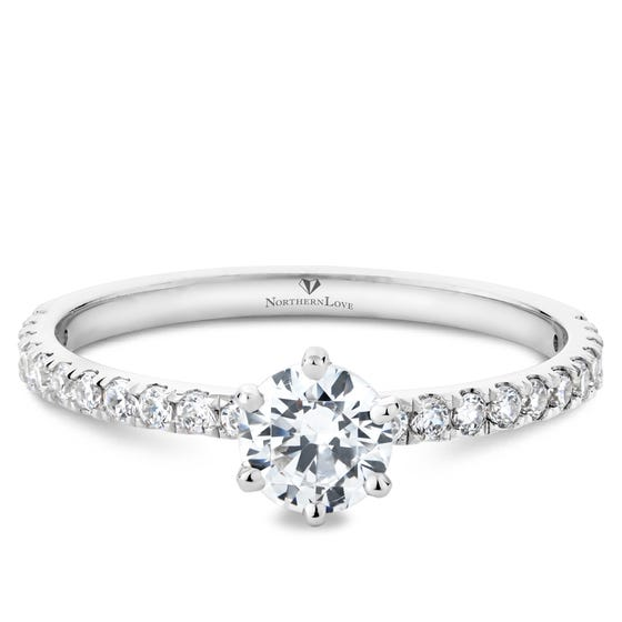 NORTHERN LOVE Platinum Brilliant Cut Diamond Engagement Total Carat Weight 0.84ct (EA3)
