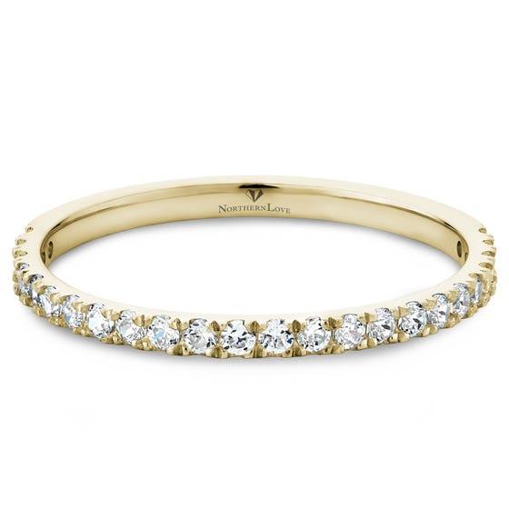 NORTHERN LOVE 14K Yellow Gold Diamond Wedding Band Total Carat Weight 0.37ct (EA3)