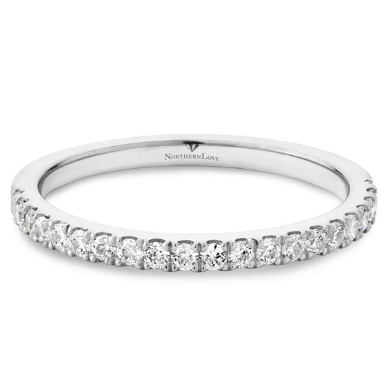 NORTHERN LOVE Platinum 950 Diamond Wedding Band Total Carat Weight 0.32ct (EA3)