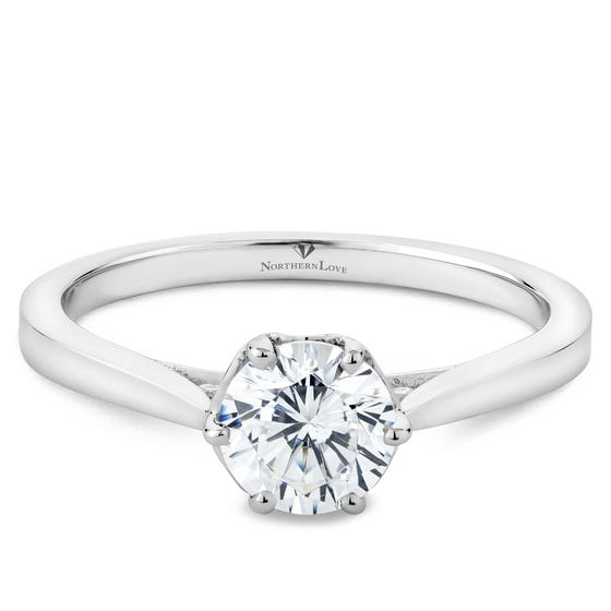 NORTHERN LOVE Platinum Brilliant Cut Diamond Engagement Ring Total Carat Weight 0.76ct (EA3)