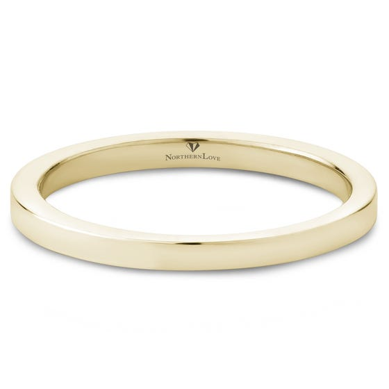 NORTHERN LOVE 14K Yellow Gold Wedding Band (EA3)
