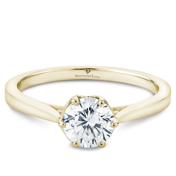 NORTHERN LOVE Yellow Gold Diamond Engagement Ring Total Carat Weight 0.76ct (EA3)