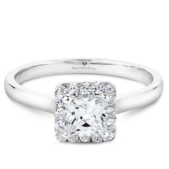 NORTHERN LOVE White Gold Diamond Engagement Ring Total Carat Weight 0.94ct (EA3)