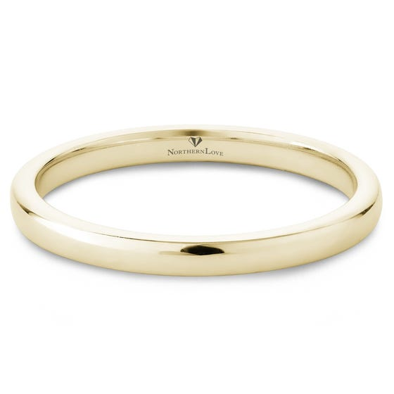 NORTHERN LOVE 14K Gold Wedding Band (EA3)