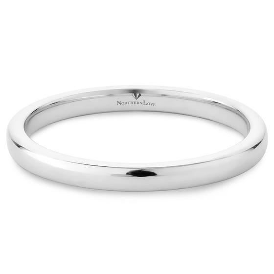 NORTHERN LOVE Platinum 950 Wedding Band (EA3)