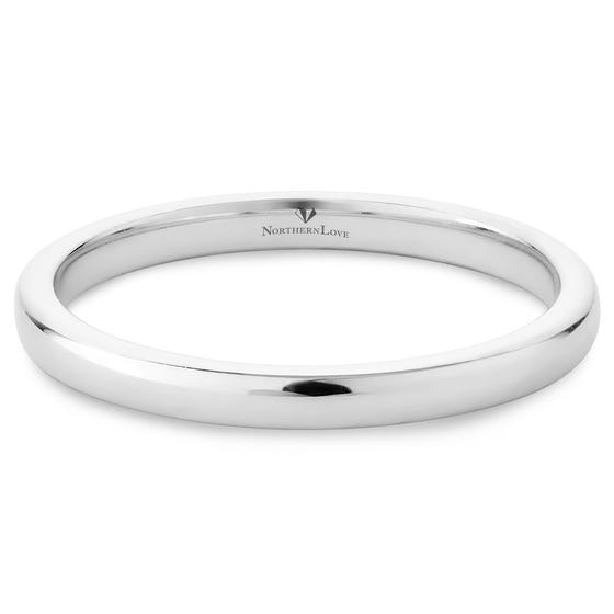 NORTHERN LOVE 14K White Gold Wedding Band (EA3)