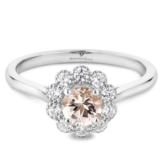 NORTHERN LOVE .50ct Pink Morganite Engagement Ring (EA3)