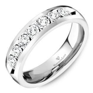 NORTHERN LOVE Platinum 4.5 mm Women's Wedding Band Total Carat Weight 0.70ct (EA3)