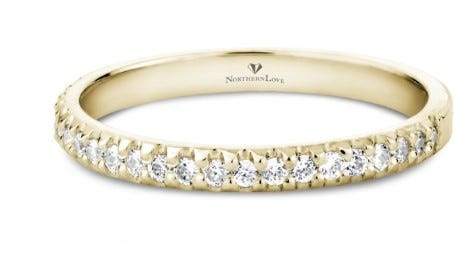 NORTHERN LOVE 14K Yellow Gold Diamond Wedding Band Total Carat Weight 0.24ct (EA3)