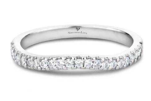 NORTHERN LOVE 14K White Gold Diamond Wedding Band Total Carat Weight 0.24ct (EA3)