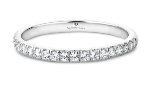NORTHERN LOVE Platinum 950 Diamond Wedding Band Total Carat Weight 0.37ct Diamond (EA3)