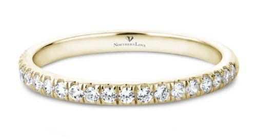 NORTHERN LOVE 14K Yellow Gold Diamond Wedding Band Total Carat Weight 0.37ct (EA3)