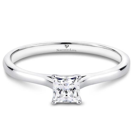 NORTHERN LOVE Bague de fiançailles à diamant solitaire 0.25 ct blanc serti