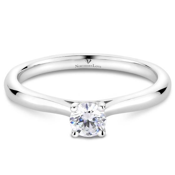 Northern Love Platinum Brilliant Diamond Engagement Ring Total Carat Weight 0.25ct (EA3)