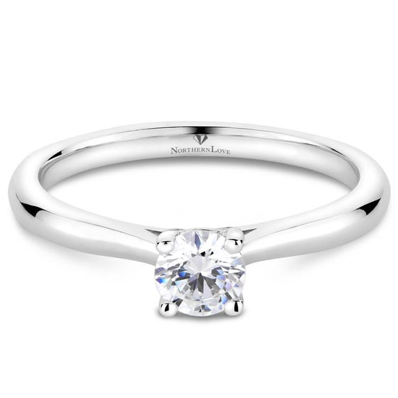 NORTHERN LOVE White Gold Solitaire Engagement Ring Total Carat Weight 0.33ct (EA3)
