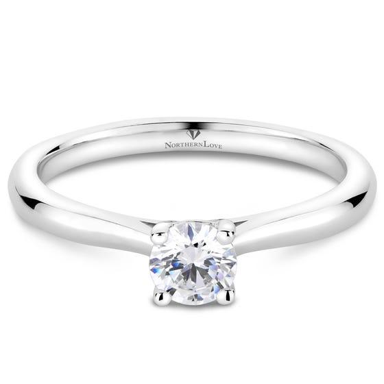 Northern Love Platinum Brilliant Diamond Engagement Ring Total Carat Weight 0.33ct (EA3)
