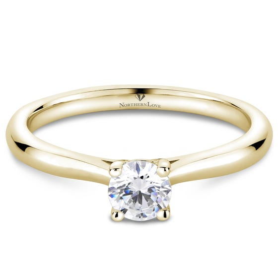 Northern Love Yellow Gold Solitaire Diamond Engagement Ring Total Carat Weight 0.33ct (EA3)