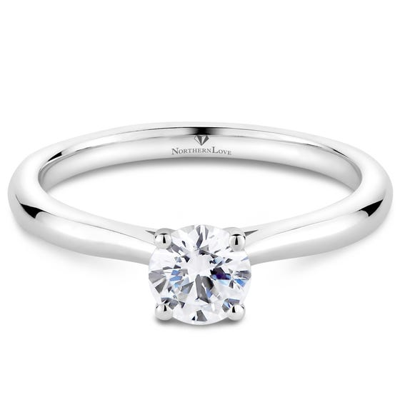 NORTHERN LOVE White Gold Solitaire Engagement Ring Total Carat Weight 0.50ct (EA3)