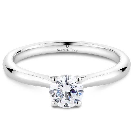 NORTHERN LOVE Platinum Brilliant Diamond Engagement Ring Total Carat Weight 0.50ct (EA3)