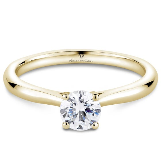Northern Love Yellow Gold Solitaire Diamond Engagement Ring Total Carat Weight 0.50ct (EA3)