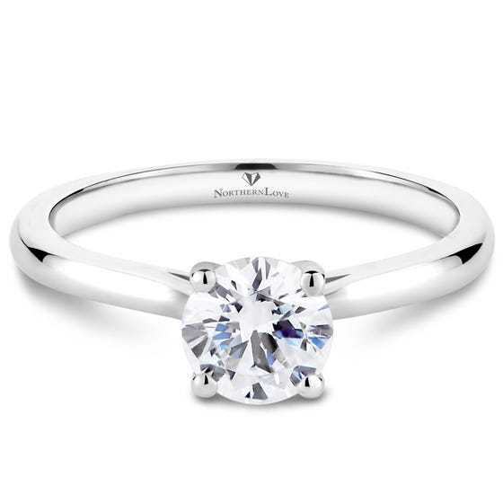NORTHERN LOVE White Gold Brilliant Diamond Engagement Ring Total Carat Weight 0.75ct (EA3)