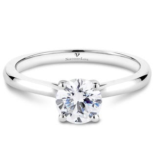 Northern Love Platinum Brilliant Diamond Engagement Ring Carat Weight 0.75ct (EA3)