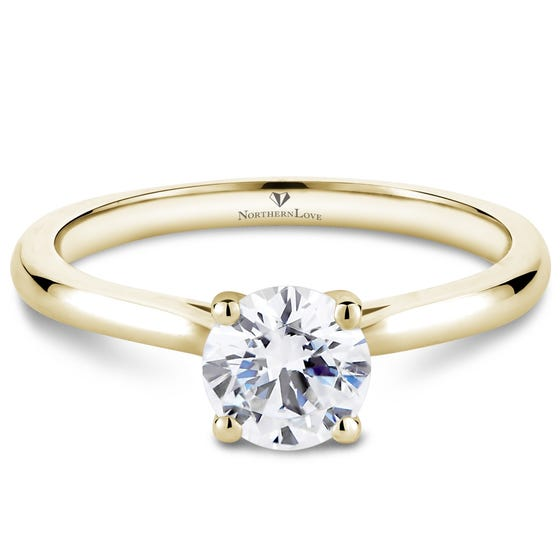 Northern Love Yellow Gold Solitaire Diamond Engagement Ring Total Carat Weight 0.75ct (EA3)