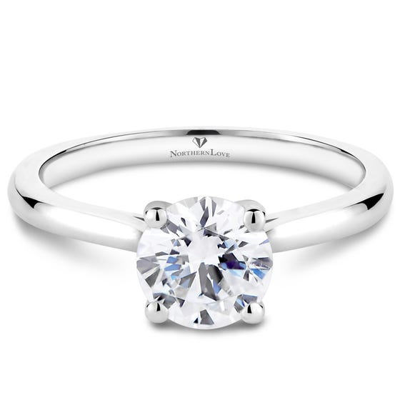 NORTHERN LOVE White Gold Solitaire Engagement Ring Total Carat Weight 1.00ct (EA3)