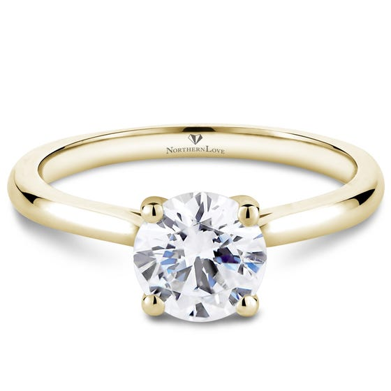 NORTHERN LOVE Yellow Gold Solitaire Diamond Engagement Ring Total Carat Weight 1.00ct (EA3)