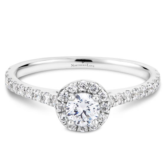 Northern Love White Gold Halo Engagement Ring (EA3)