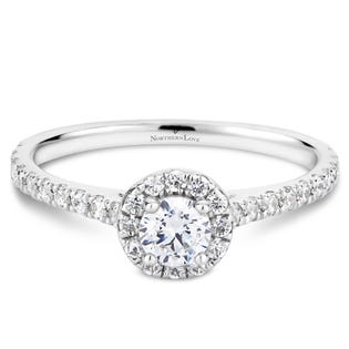 Northern Love Platinum Halo Engagement Ring (EA3)