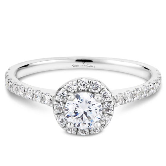 Northern Love White Gld 0.70ct Halo Engage Ring (EA3)