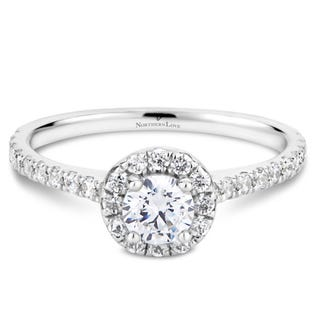 Northern Love Platinum .70ct Halo Engage Ring (EA3)